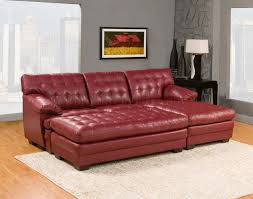 Red Sofa Furniture Sectional Sofa 9739 In Red Bonded Leather By Homelegance