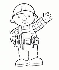 bob builder coloring pages invigorate color