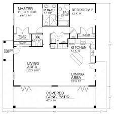 small patio home plans i like the open floor plan but it would need another bedroom and a