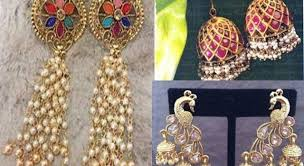 antique gold jhumka earrings save thumbnail antique gold jhumka earrings beautiful designs