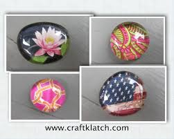 easy glass picture stone magnets craft make something monday youtube