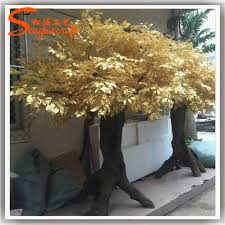 3meter large outdoor artificial decorative tree gold artificial