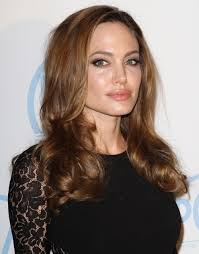 light brown hair angelina jolie long hairstyles wavy hairstyle with light brown hair