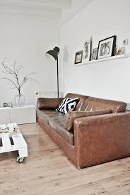10 beautiful brown leather sofas minimal living wood flooring