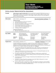 Key Skills Resume Administrative Assistant Assistant Resume Of An Administrative Assistant