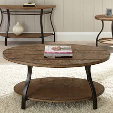 Light Oak Furniture Steve Silver Denise Oval Light Oak Wood Coffee Table Hayneedle