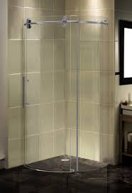 aston completely frameless round sliding shower door enclosure