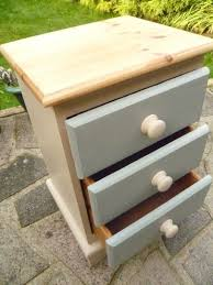 Solid Pine Solid Pine Bedside Drawers Hand Painted In Annie Sloan Country