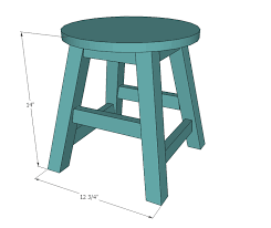 Wooden Bar Stool Plans Free by Ana White Play Table Stools Diy Projects