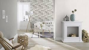 Wohnzimmer Vintage Tapete Vlies Uni Einfarbig Weiß Rasch 445800