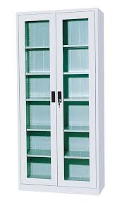 tall cabinet with glass doors bathroom awesome leslie dame glass 4 door multimedia storage