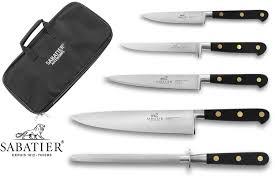 honing kitchen knives sabatier kitchen knife bag 4 knives 1 honing steel