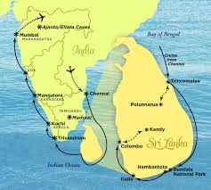 India On A Map by South To Serendib India And Sri Lanka March 24 April 6 2017