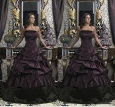 online get cheap purple satin ball gown wedding dress aliexpress