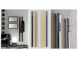 modern coat hooks wall clothes rail with retractable hook idfdesign