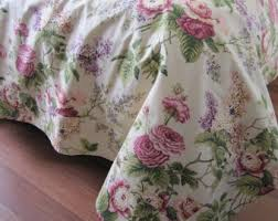 Shabby Chic Queen Sheets by Shabby Chic Bedding Red Green Pink Roses Floral Print
