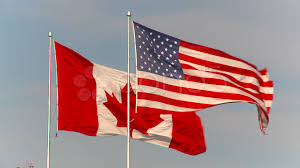 Candaian Flag Flag Huge Us And Canada Flags Neighbors Together Hi Res 926801