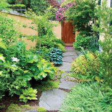 Idea For Backyard Landscaping by Side Yard Ideas Sunset