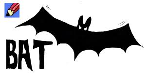 how to draw a bat for halloween real easy youtube