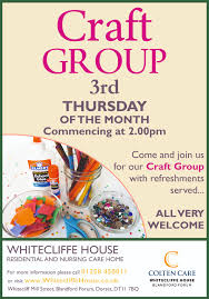 date for the diary craft group at whitecliffe house