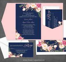 wedding invitations navy navy and blush wedding invitations marialonghi