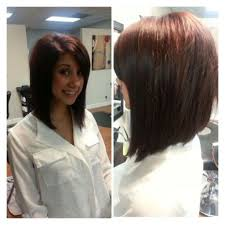 medium length angled hairstyles shoulder length angled bob women hair libs