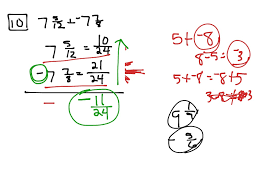 Subtracting Mixed Fractions Worksheets Adding And Subtracting Mixed Numbers With Borrowing Math
