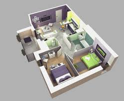Small Three Bedroom House Plans by More Bedroomfloor Plans With Beautiful Little House Design 3d