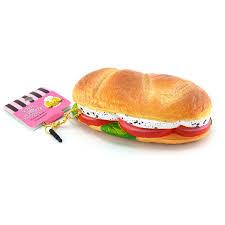 lucio 12cm jumbo panini squishy bread slow rising hamburger straps