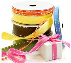 grosgrain fabric ribbon w saddle stitch pattern us box corp