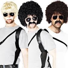 70s cops wig starsky u0026 hutch fancy dress police fbi uniform