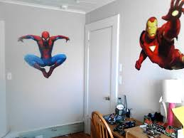 bedroom fantastic spiderman room ideas with white paint walls and