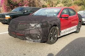 spied 2018 acura tlx prototype shows off new grille