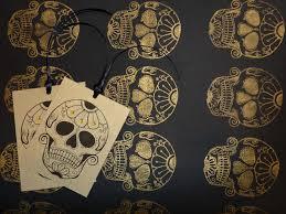 skull wrapping paper handmade wrapping paper sugar skull tattoo vickilicious