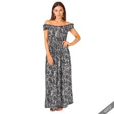 women boho gypsy floral off shoulder summer beach party long maxi