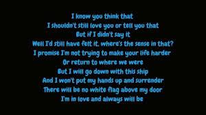 White Flag Dido Dido White Flag Lyrics Hd Youtube