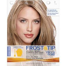 highlights vs frosting of hair clairol nice n easy frost tip hair highlights creme kit