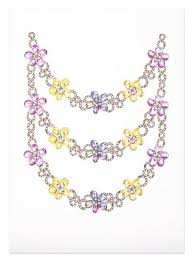 coloured flower necklace images Art prints anzuengland jpg
