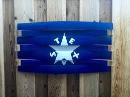 Texas Flag Chile Flag Texas Wine Barrel Art Wall Hang Texas Wood Flag Texas Flag