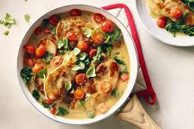 comment cuisiner des epinards côtelettes de porc en sauce avec épinards et tomates cuisinez