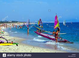 tarifa in southern spain windsurfing beach stock photo royalty