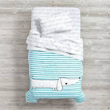 teal bedding for girls early edition toddler sheet set dog the land of nod
