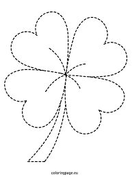 4 leaf clover template leaf clover template