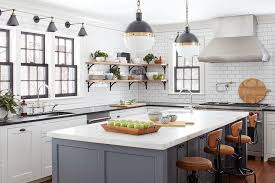gray kitchen island gray kitchen island with vintage leather architect stools