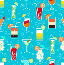 margarita illustration seamless pattern background with alcohol cocktail drinks of