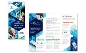 Templates Of Brochures aquarium brochure template design