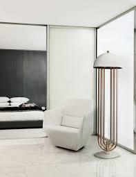 Modern Floor Floor Standing Lamp Art Deco Aluminum Brass Turner