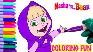 masha coloring fun masha bear speed coloring