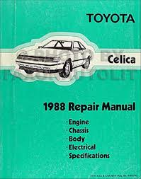 1988 toyota celica repair shop manual original