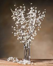 white cherry blossom cherry blossom silk flower stems for casual decorating at petals